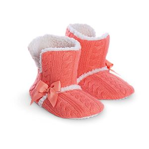 Coral Cuff Slippers for Girls