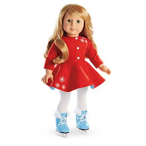 Maryellen's Ice Skating Outfit for 18-inch Dolls