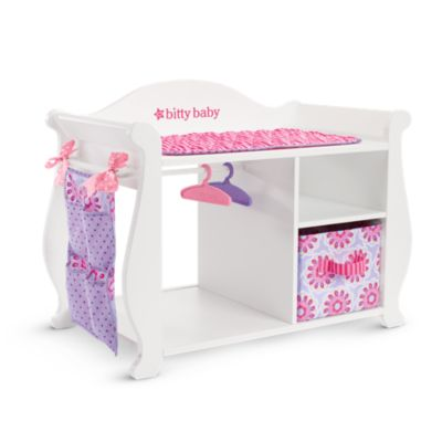 bitty s baby doll changing table storage american girl