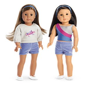 2-in-1 Gymnastics Practice Outfit for 18-inch Dolls