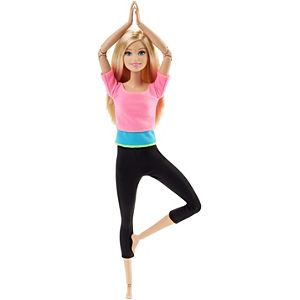 Barbie® Made To Move™ Doll- Pink Top