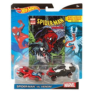 Hot Wheels® Marvel® Spider-Man™ vs. Venom™ Character Car 2-Pack with Mini Comic