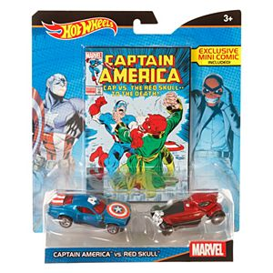 Hot Wheels® Marvel® Captain America™ vs. Red Skull™  Character Car 2-Pack with Mini Comic