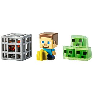 Minecraft® Mini Figure 3-Pack #1 - Obsidian Series