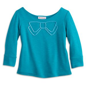 Blue Bow Top for Girls