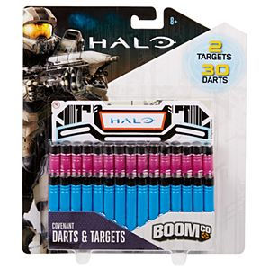 BOOMco.™ Halo Covenant Darts & Targets Pack - Pink & Blue Darts, Black Tips