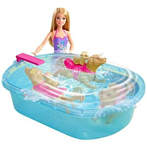 Barbie® Doll & Swimmin Pup Pool
