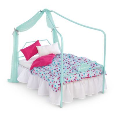 canopy bed bedding american girl - Beds For American Girl Dolls