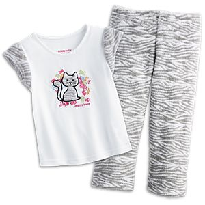 Bitty Kitty PJs for Little Girls