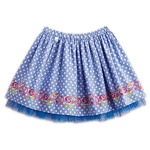Polka-Dots & Blooms Skirt for Girls