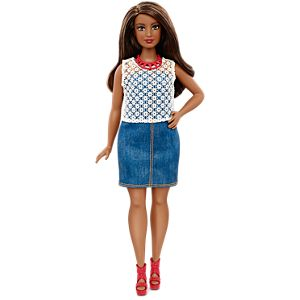 Barbie® Fashionistas® Doll 32 Dolled Up Denim - Curvy