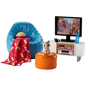 Barbie® Movie Night & Kitten Playset
