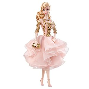 Blush & Gold Cocktail Dress Barbie® Doll
