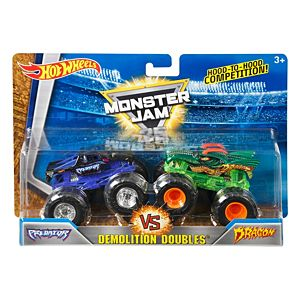 Hot Wheels® Monster Jam® Demolition Doubles® Predator Vs Dragon Vehicles