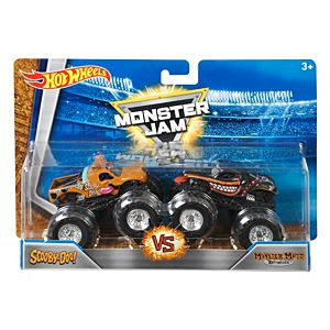 Hot Wheels® Monster Jam® Demolition Doubles® Scooby-Doo! Vs Monster Mutt® Rottweiler Vehicles