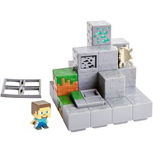Minecraft Mining Mountain Mini Figure Environment Set