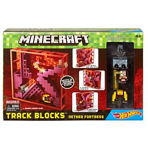 Minecraft® Hot Wheels® Track Blocks™ Nether Fortress Play Set