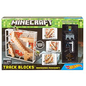 Minecraft®  Hot Wheels® Track Blocks™ Abandoned Mineshaft Play Set