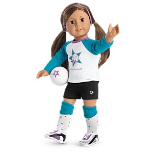 Star Player Volleyball Outfit for 18-inch Dolls