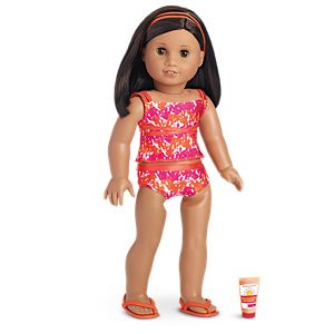 Bright & Splashy Tankini for 18-inch Dolls