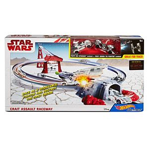 Hot Wheels® Star Wars™ Crait Assault Raceway Track Set