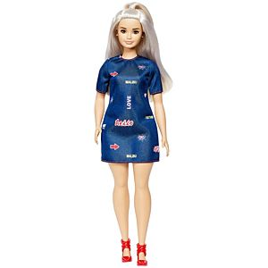 Barbie® Fashionista® Doll 63 Platinum Pop – Curvy