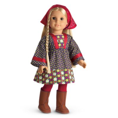 NEW..American Girl Julie Christmas Outfit Velvet Jumper Dress VERY HARD TO FIND