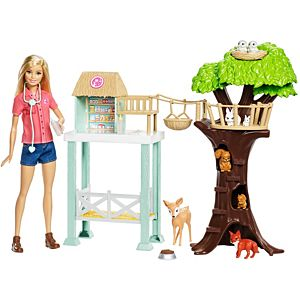​Barbie® Animal Rescuer Doll and Playset with Accessories