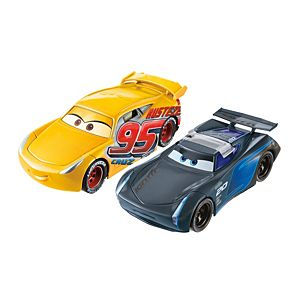 Disney•Pixar Cars 3 Flip To The Finish Rust-Eze Cruz Ramirez & Jackson Storm Vehicles