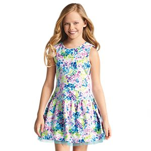 Mixed-Print Dress for Girls
