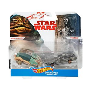 Hot Wheels® Star Wars™ Jabba the Hutt™ vs. Han Solo in Carbonite™ Vehicles