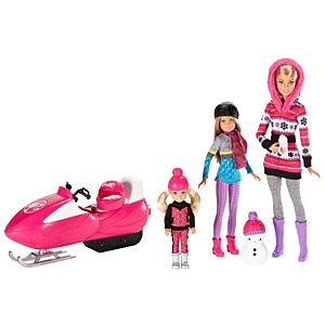 Barbie® Dolls with Snowmobile and Sled