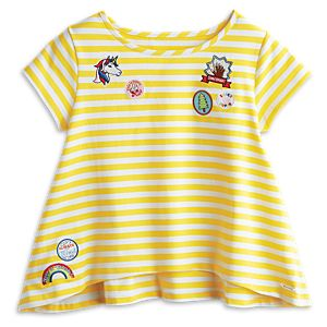 Sunny Striped Tee for Girls