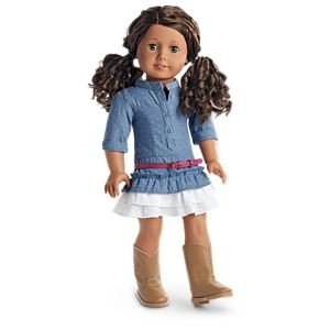 Western Chambray Outfit for 18-inch Dolls
