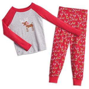 Festive Reindeer PJs for Girls