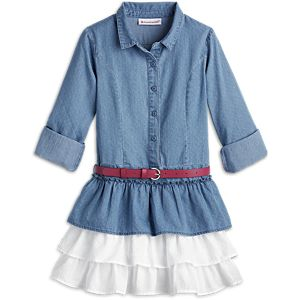 Western Chambray Outfit for Girls