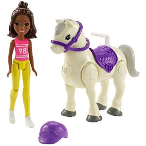 Barbie® On The Go™ White Pony and Pink Fashion Doll