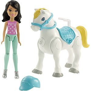 Barbie® On The Go™ White Pony and Purple Fashion Doll