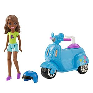 Barbie® On The Go™ Blue Scooter and Doll