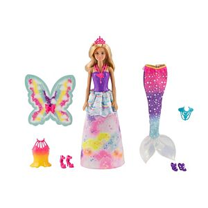 Barbie™ Dreamtopia Doll with 3 Fairytale Costumes