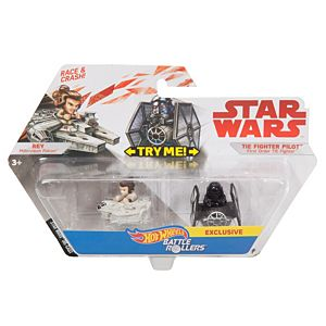 Hot Wheels® Star Wars™ Rey vs First Order TIE Fighter Pilot™ 2-Pack Vehicle