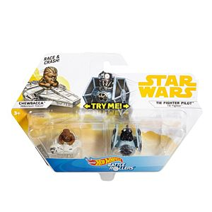 Hot Wheels® Star Wars™ Chewbacca™ Millennium Falcon™ vs. Darth Vader™ TIE Fighter™ 2-Pack Vehicle