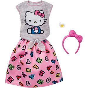 Barbie® Hello Kitty® Gray Top/Skirt Fashion