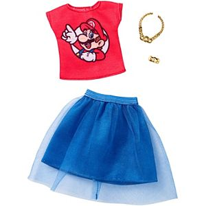 Barbie® Super Mario™ Red Top/Skirt Fashion