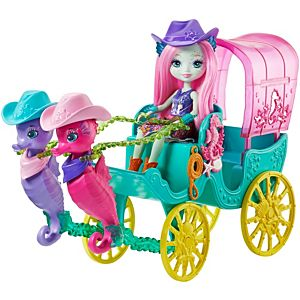 Enchantimals™ Seahorse Carriage Sandella Seahorse™ Doll And Playset
