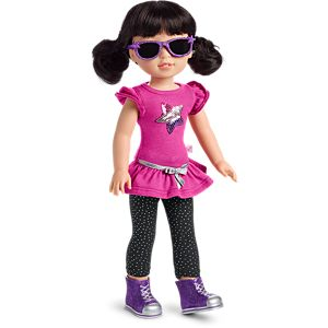 Rock Star Outfit for WellieWishers Dolls