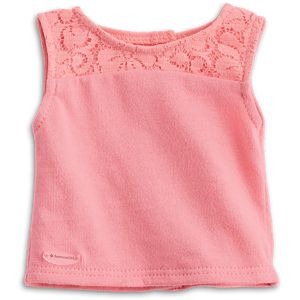 Seashell Lace Tank for 18-inch Dolls