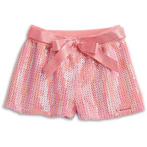 Seashell Sequin Shorts for 18-inch Dolls