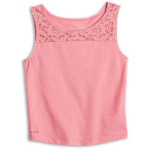 Seashell Lace Tank for Girls