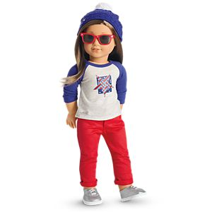 Star Spangled Fan Gear for 18-inch Dolls